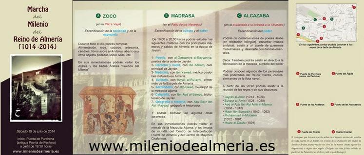 Imagen del folleto de la Marcha del Milenio de Almería