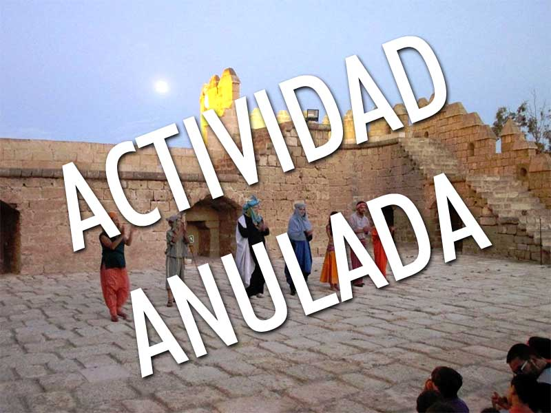 Suspendida la visita teatralizada del miércoles 30 a la Alcazaba