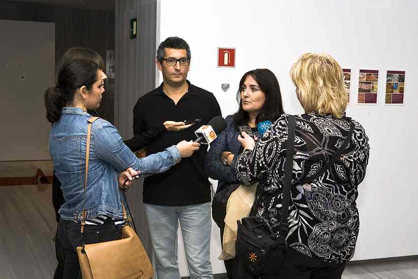 entrevista junta de andalucía en museo arqueológico de almería